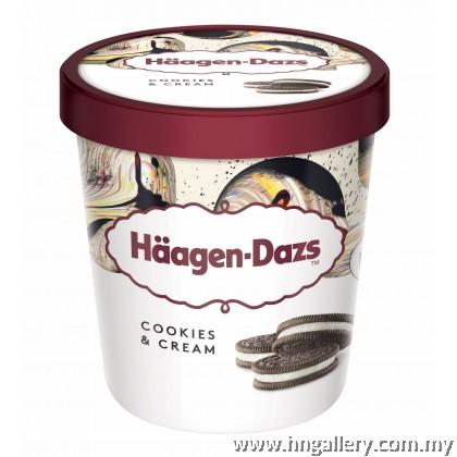 Ready Stock Haagen-Dazs Cookies & Cream Pint 392g/473ml (Klang Valley Only)