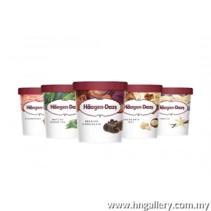 Ready Stock Haagen-Dazs Belgian Chocolate & Hazelnut Pint 392g/473ml (Klang Valley Only)