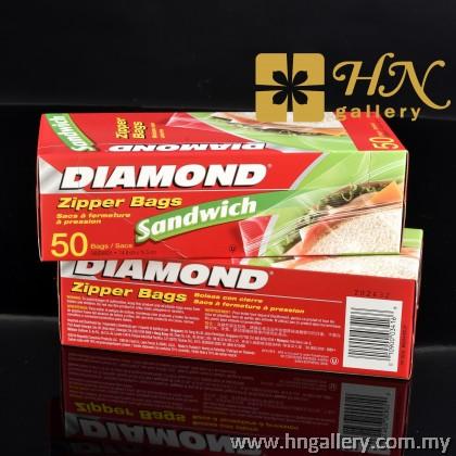 Diamond Zipper Bags Sandwich 50's