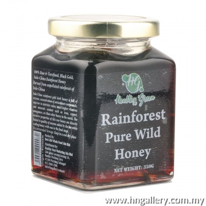 Healthy Green Rainforest Pure Wild Honey 350g