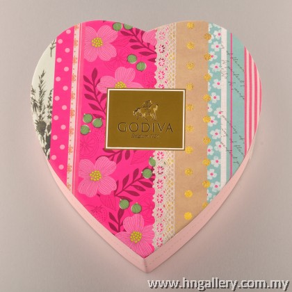 Godiva Summer Romance Chocolate Heart Gift Box 5pcs (Special Edition)