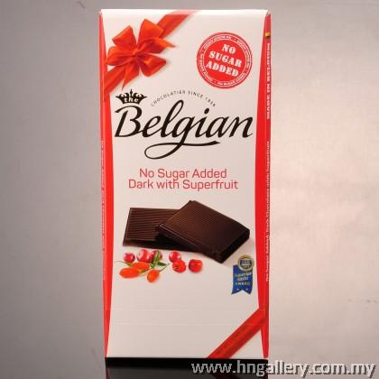 Imported Belgian Dark Chocolate with Superfruit Bar (No Sugar Added)