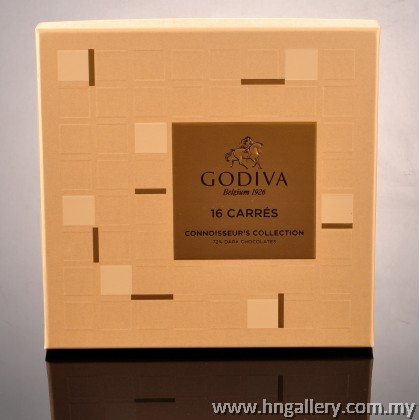 Godiva Chocolate Carré Collection 16pcs (Milk Chocolate,Dark Chocolate)