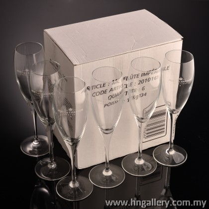 Special Edition Moat & Chandon Champagne Imperial Flute Glass Set (6pcs per set)
