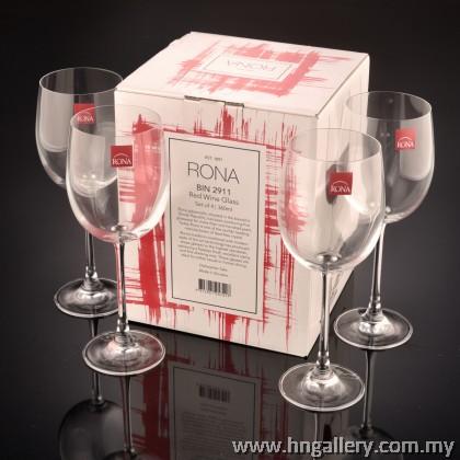 Rona BIN 2911 Red Wine Glass Set of 4 360ml