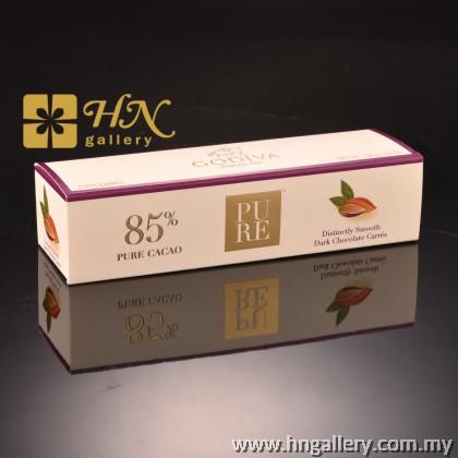 Godiva PURE 85% Dark Chocolate Carré Gift Box 21pcs