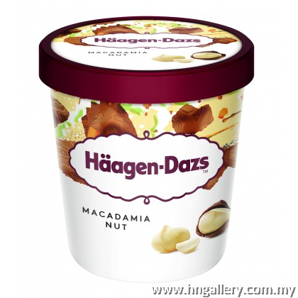 Ready Stock Haagen-Dazs Macadamia Nut Mini Cup 81g/100ml (Klang Valley Only)