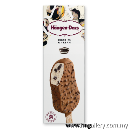 Ready Stock Haagen-Dazs Assorted Multipack Stick Bar (Chocolate Choc Almond & Cookies Cream & Salted Caramel) 3 x 69g/80ml (Klang Valley Only)